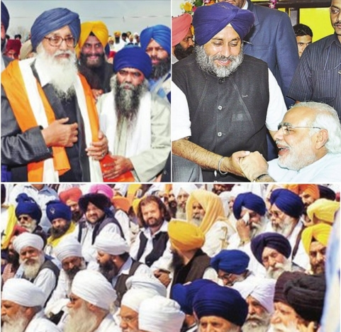 Along with Modi and Dhumma, scores of pro-Badal Babas and Jathedars also came to congratulate the new Badal Government