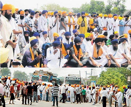 Sikhs Blockade the National Highway in Beas