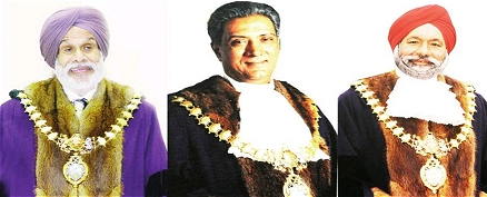 (Left to right) Local Anti-Sikh leaders of Leamington Spa  - Cllr Balvinder Gill, Cllr Balraj Dhesi and Cllr Mota Singh