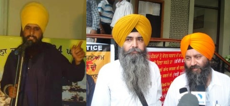 SEDITION CHARGES: Surinder Singh, Daljit Singh, and Kulbir Singh