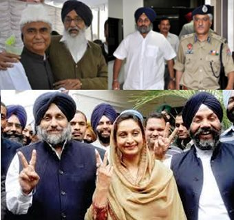 Manjit GK and Akali Leaders associated with Sikh Genocide