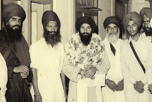 Bhai Amrik Singh, Baba Tharaa Singh and others after their release from Jail