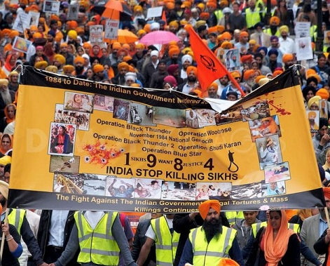 Sikh Protest Rally Against Genocide in India